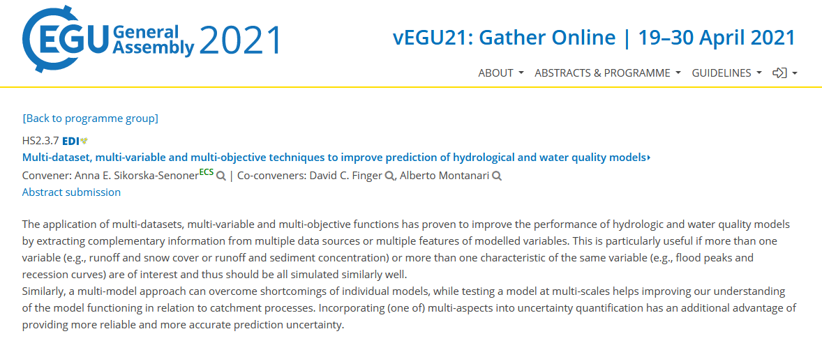 New session on multi-techniques at EGU21